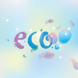 Eco with dew drops Royalty Free Stock Image