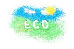 Eco di logo immagine stock