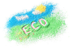 Eco di logo fotografia stock