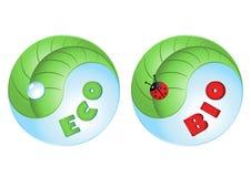 Eco di vettore e bio- icone Immagini Stock