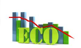 Eco diagram Royalty Free Stock Images