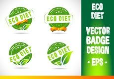Eco diet Badge Vector Stock Photo
