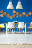 Eco dining room with cork Stock Photo