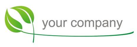 Eco do logotipo Imagens de Stock
