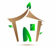 eco domowy ikony wektor Fotografia Stock