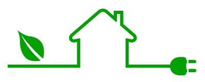 Eco domu ikona Energetyczny skuteczny domowy pojęcie - wektor ilustracja wektor