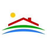 Eco domu ikona - ilustracja Fotografia Royalty Free