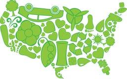 Eco Doodles Ηνωμένες Πολιτείες Στοκ φωτογραφία με δικαίωμα ελεύθερης χρήσης
