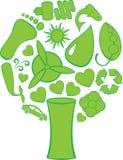 Eco Doodles el árbol Imagen de archivo libre de regalías