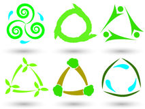 Eco Dreieckikonen Stockbilder