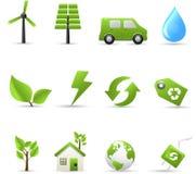 Eco e bio ícones Fotografia de Stock Royalty Free