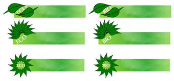 Eco e bio- bandiere illustrazione vettoriale