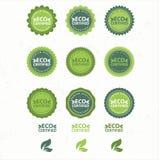 Eco e bio coleção das etiquetas Fotos de Stock Royalty Free