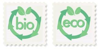 Eco e bio selos Fotografia de Stock