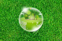 Eco Earth on Fresh spring Royalty Free Stock Images