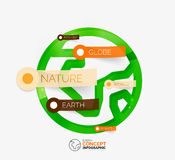 Eco Earth globe infographic concept Stock Photography