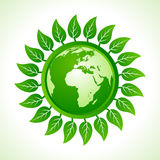 Eco earth inside the leaf background Royalty Free Stock Photography