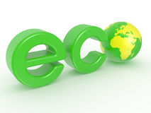 Eco Earth label Stock Images