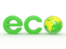 Eco Earth label Royalty Free Stock Image