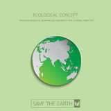 Eco earth paper art. Royalty Free Stock Image