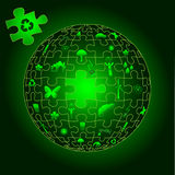 Eco Earth in puzzle pieces Royalty Free Stock Image