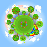 Eco earth with trees. Vector Royalty Free Stock Images
