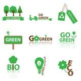 Eco 6. Ecology green icon,logo,sign and symbol, vector EPS 10 Royalty Free Stock Photos