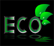 Eco  ecology logo green leaf Stock Images