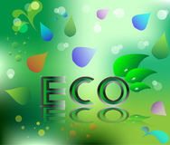 Eco ecology logo green leaf  illustration Stock Image