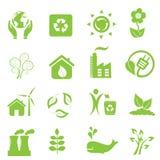 Eco ed icone dell'ambiente Immagine Stock Libera da Diritti
