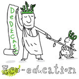 Eco education,  drawing Royalty Free Stock Photos
