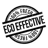 Eco effective stamp Royalty Free Stock Photography