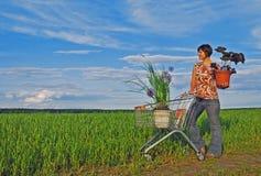 Eco Einkaufen Lizenzfreies Stockfoto