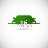 Eco Electric Car Friendly Environment Machine Web Icon Green Logo Royalty Free Stock Photos