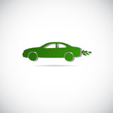Eco Electric Car Friendly Environment Machine Web Icon Logo Royalty Free Stock Images