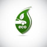 Eco Electric Car Friendly Environment Machine Web Icon Logo Stock Image