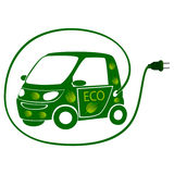 Eco electric car Stock Photography