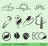 Eco elements. Abstract eco elements and logos Stock Photos