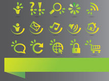 Eco elements and icons Royalty Free Stock Images