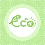 Eco emblem Arkivfoto