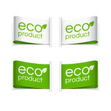Eco en Eco-productetiketten Royalty-vrije Stock Foto's