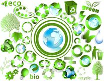 Eco end recycle symbols Stock Image