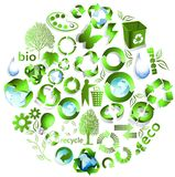 Eco end recycle symbols Stock Images