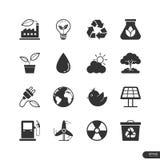Eco Energetyczne ikony ustawiać - Wektorowa ilustracja Fotografia Royalty Free