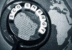 Eco energi Arkivfoto