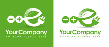 Eco-Energie-Logo Stockfoto