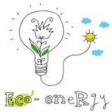 Eco Energie, zeichnend lizenzfreie abbildung
