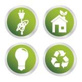 Eco-Energieikonen Lizenzfreies Stockfoto