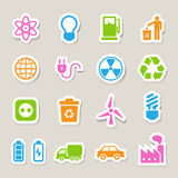 Eco-Energieikonen eingestellt. Stockfotografie