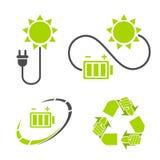 Eco-Energielogo Bereiten Sie, energiesparende Symbole auf Lizenzfreie Stockfotos